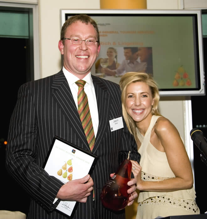 Catriona Rowntree & Jason Miller at the 2008 SA Great Awards